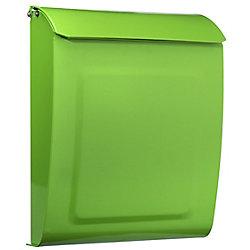 Architectural Mailboxes Boîte à lettres verrouillable pour montage mural Aspen vert lime