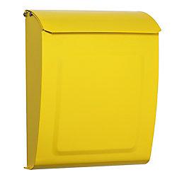 Architectural Mailboxes Boîte à lettres verrouillable pour montage mural Aspen jaune