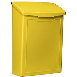 Architectural Mailboxes Boîte à lettres pour montage mural Marina jaune