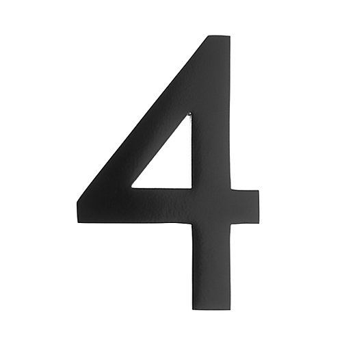 "Address Number 4 inch. Brass Black ""4"""