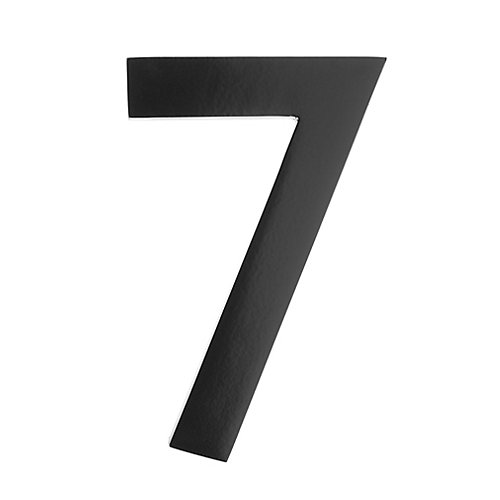 "Address Number 4 inch. Brass Black ""7"""