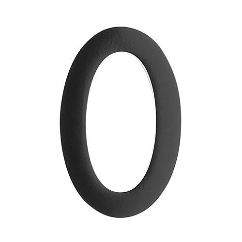 "Address Number 5 inch. Brass Black ""0"""