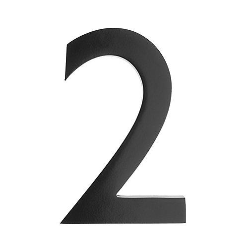 "Address Number 5 inch. Brass Black ""2"""