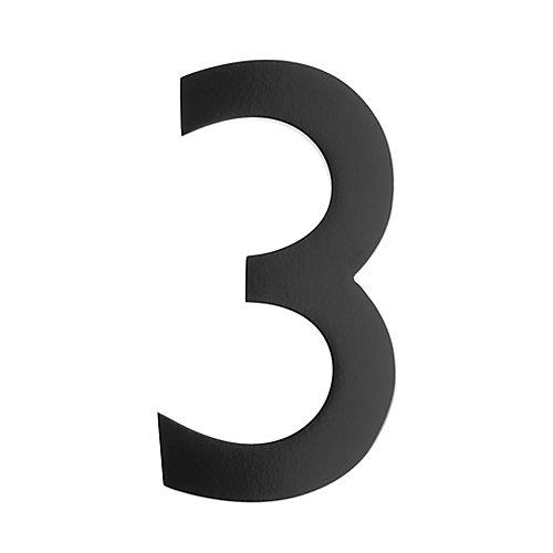 "Address Number 5 inch. Brass Black ""3"""