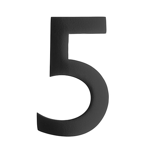 "Address Number 5 inch. Brass Black ""5"""