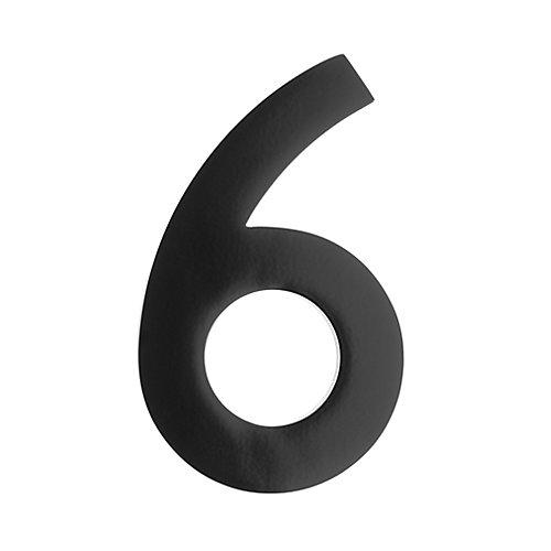 "Address Number 5 inch. Brass Black ""6"""