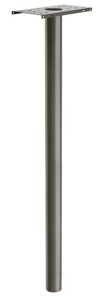 Architectural Mailboxes Pacifica Post Round 3 inch. In Ground Graphite Bronze 53 inch.