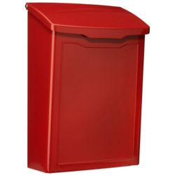 Architectural Mailboxes Boîte à lettres pour montage mural Marina rouge