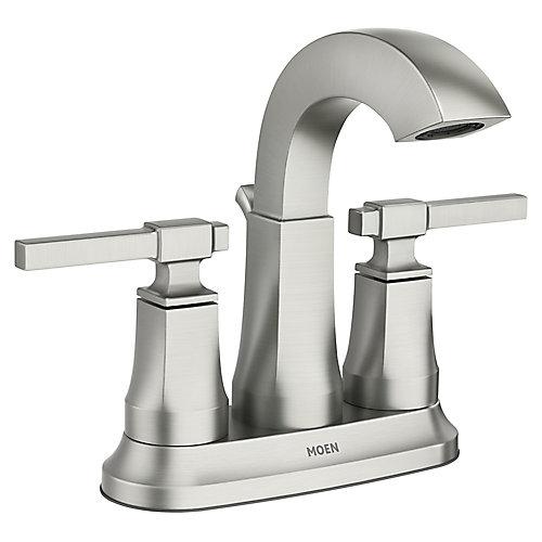 Ayda 4-inch Centerset 2 Poignées Robinet de salle de bains en Nickel Résistant aux taches