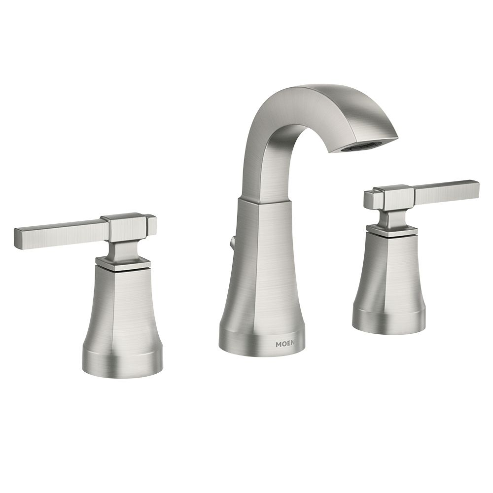 Moen Ayda 8-Inch Widespread 2-Handle Bathroom Faucet in Spot Resist Brushed Nickel