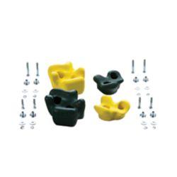 Creative Cedar Designs Playset Climbing Rocks (set of 4)- Green & Yellow