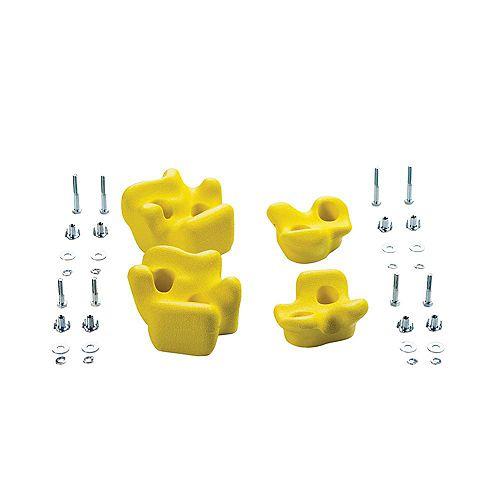 Creative Cedar Designs Playset Climbing Rocks (set of 4)- Yellow