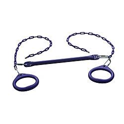 Creative Cedar Designs Trapèze à anneaux circulaires standard Barres et anneaux pour portique-Violet