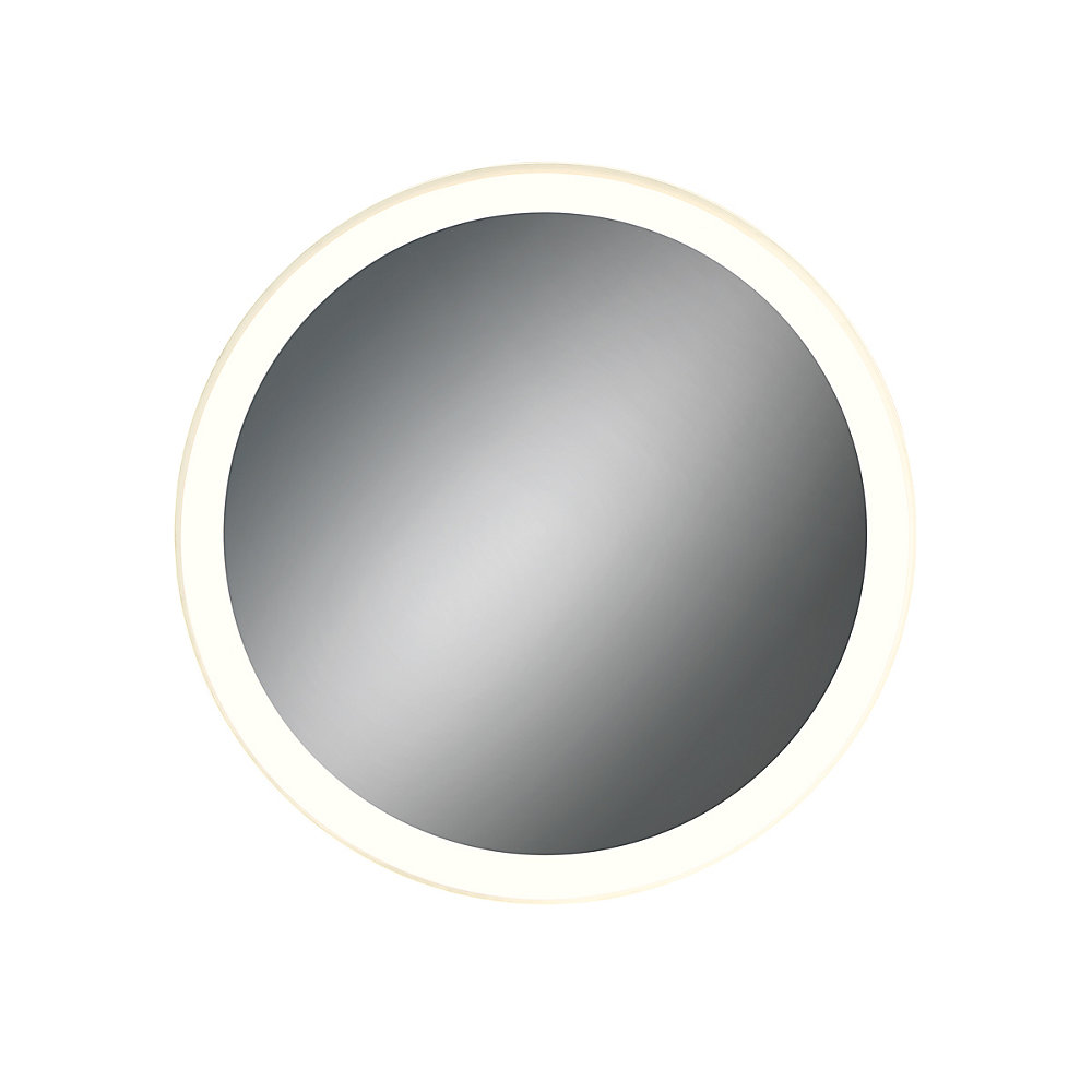 Round LED Mirror with Edge-Lit, Dimmable Touch Sensor - 31481-018