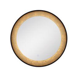 Eurofase Miroir rond à bord illuminé à DEL à feuille d'or - 33830-018