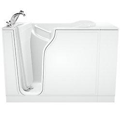 American Standard W52 x D30 x H42 Gelcoat Soaking Left-Hand Drain Walk-In Bathtub
