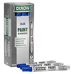 Dixon Paint Marker - Valve Action - Medium Tip - Blue
