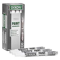 Paint Marker - Valve Action - Medium Tip - White
