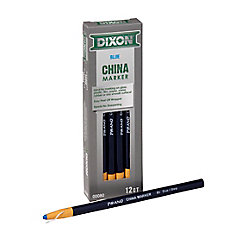 Dixon China Markers - Paper Wrapped - Blue - 12/Bx