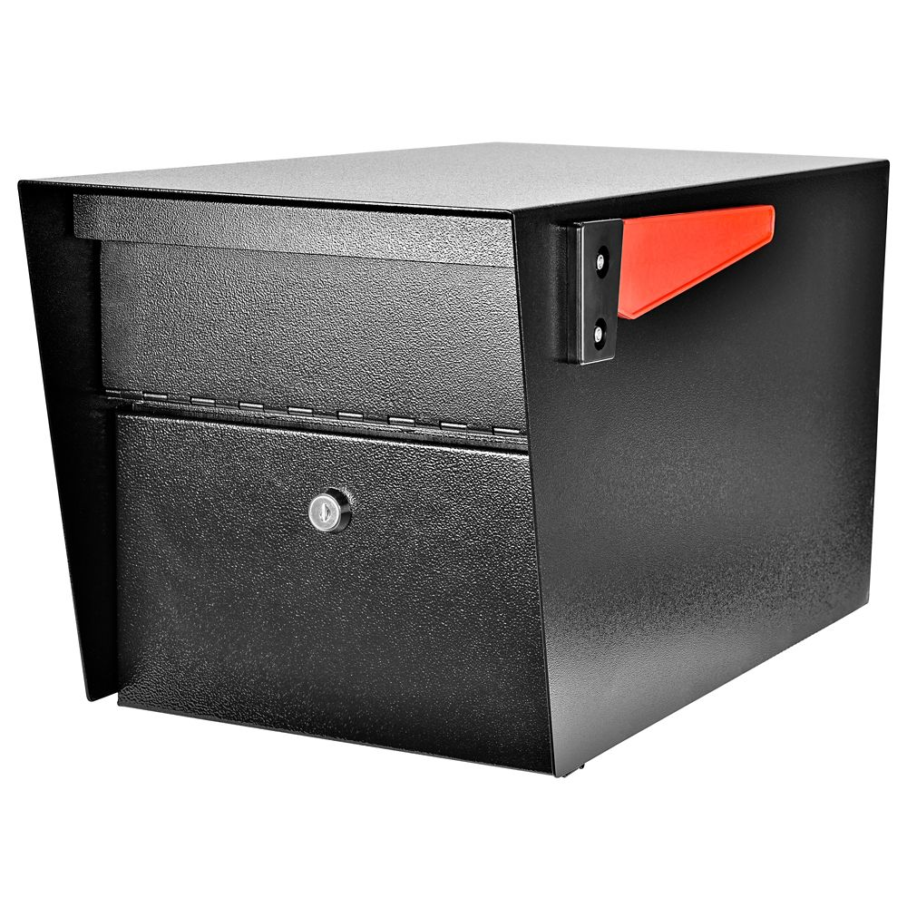 Dmp Rural Mailbox Black Plastic The Home Depot Canada