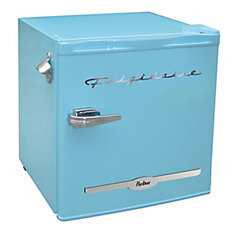 1.6 cu. ft. Retro Bar Fridge with Side Bottle Opener - Blue