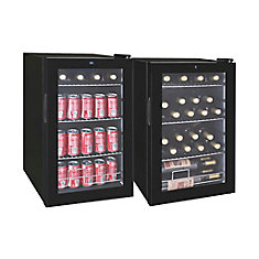Beverage Cooler for 101 cans or 24 wine bottles - Black