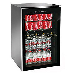 110 Can Beverage/Wine Cooler - Black