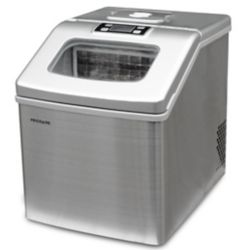 Frigidaire 40lbs Compact Clear Square Ice Maker with Window - Stainless Steel