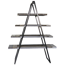 Art Maison Canada 55-inch x 16-inch x 74-inch Pine Wood Triangle Ladder Bookcase