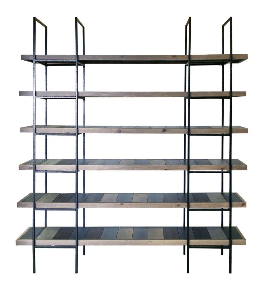 Art Maison Canada 74-inch x 13-inch x 82-inch 6-Shelf Pine wood Rack