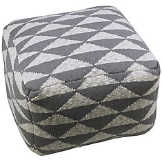 22X22X14 Triangle Design Square Pouf