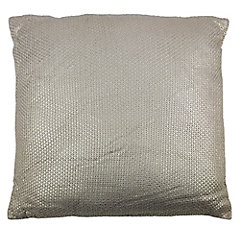 28-inch x 28-inch Gold Foil Print Floor Pillow