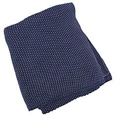 50-inch x 60-inch Denim Moss Stitch Hand Knit Throw