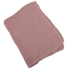 50-inch x 60-inch Maroon Moss Stitch Hand Knit Throw