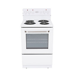 Marathon 24 inch White Electric Coil Top Range