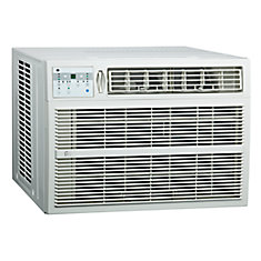 18,000 BTU Window Air Conditioner with Electric Heater
