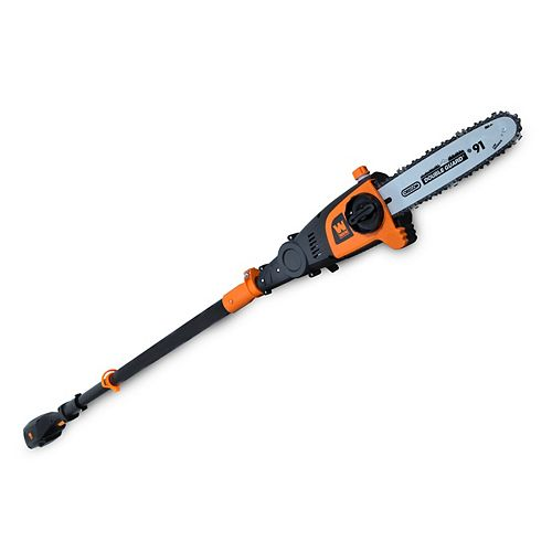 WEN 40-Volt Max Lithium Ion 10 inch Cordless and Brushless Pole Saw with 2Ah Battery and Charger
