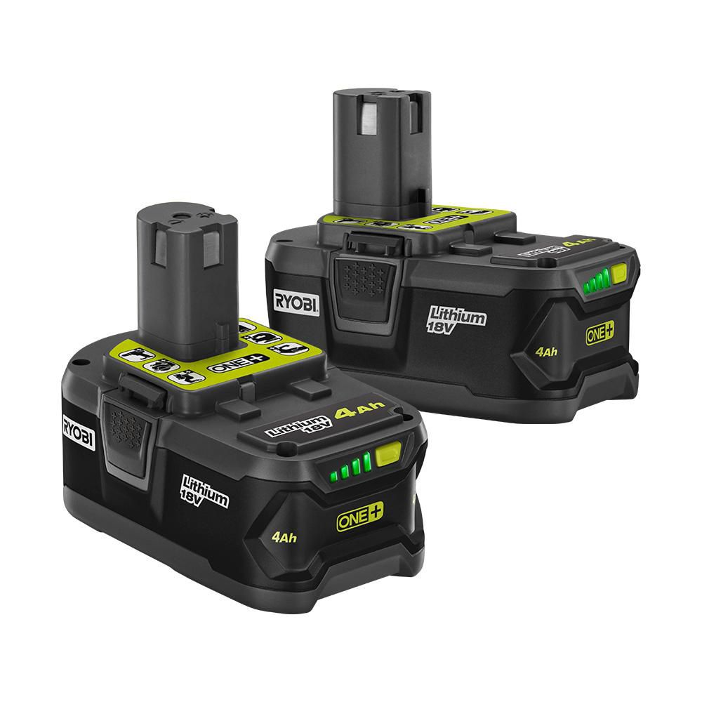 18V ONE+ Lithium-Ion 4.0 Ah High Capacity Battery (2-Pack)