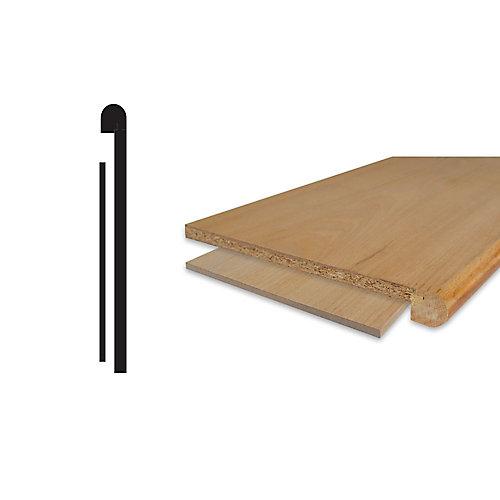 Oak Veneer Stair Tread Cap And Riser Kit 1/2 inches x 10-1/8 inches x 42 inches