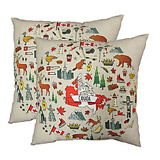 20-inch x 20-inch Canada Icons Pillow (2-Pack)
