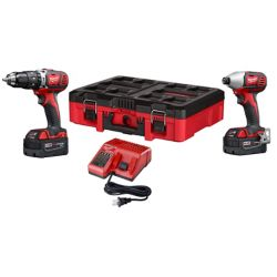 Milwaukee Tool M18 18V Lithium-Ion Cordless Hammer Drill/Impact Driver Combo Kit (2-Tool)