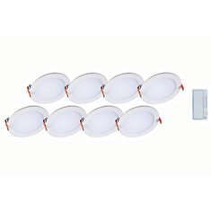6 inch Round LED Blade w/CCT 8PK w/smart dimmer