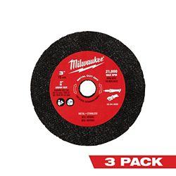 Milwaukee Tool 3-inch Metal Cut Off Wheel (3-Pack)