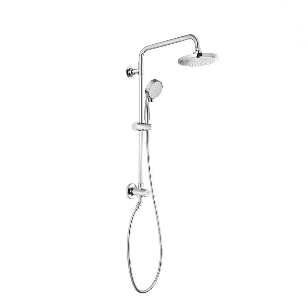 GROHE Vitalio Comfort Flex Retro-Fit 5-Spray Handheld Shower and Shower Head Combo Kit in Chrome