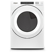 7.4 cu. ft. Front Load Gas Dryer in White