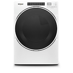7.4 cu. ft. Front Load Gas Dryer with Steam in White, Closet-Depth - ENERGY STAR®