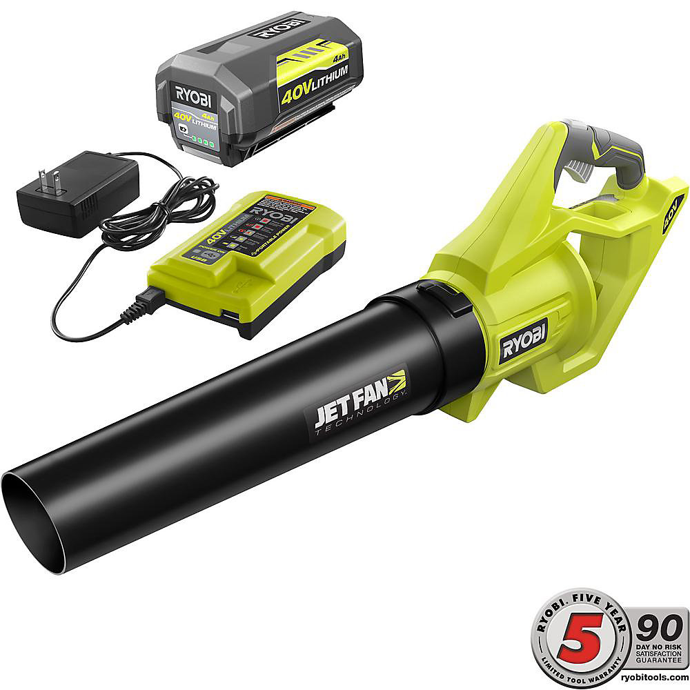 40V Jet Fan Blower Kit with 4AH Battery & Charger