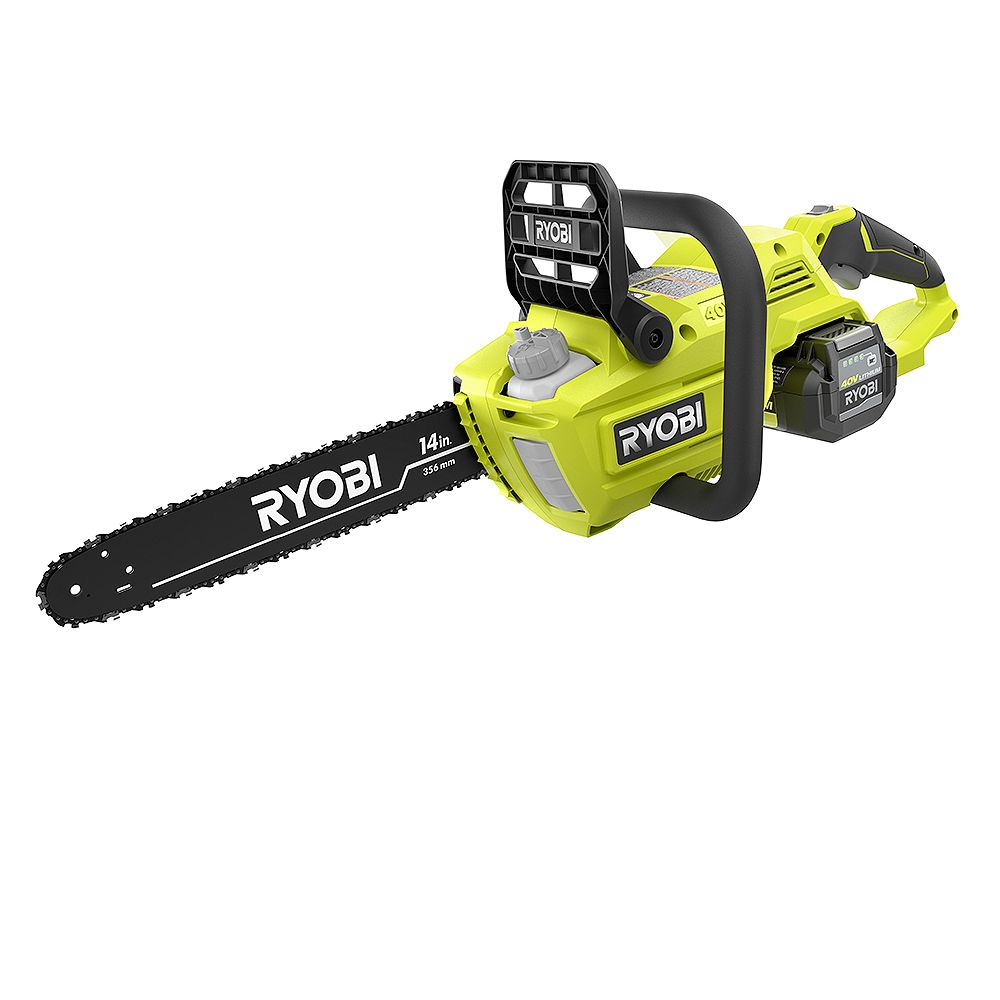 RYOBI 40V 14-inch Brushless Chainsaw Kit with 4AH Battery & Charger