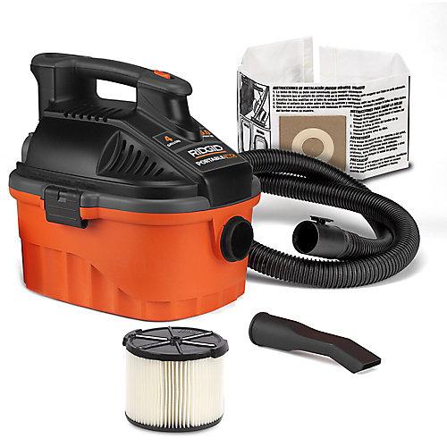 15 L (4 Gal.) 5.0 Peak HP Portable Wet Dry Vacuum
