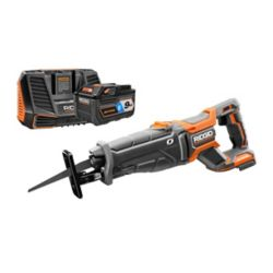 RIDGID 18V OCTANE Brushless Reciprocating Saw Kit with 9.0 Ah Battery and Charger